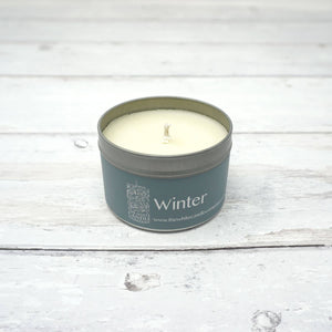 White Candle Company 100g Tin - Winter Candle | Yarn Worx