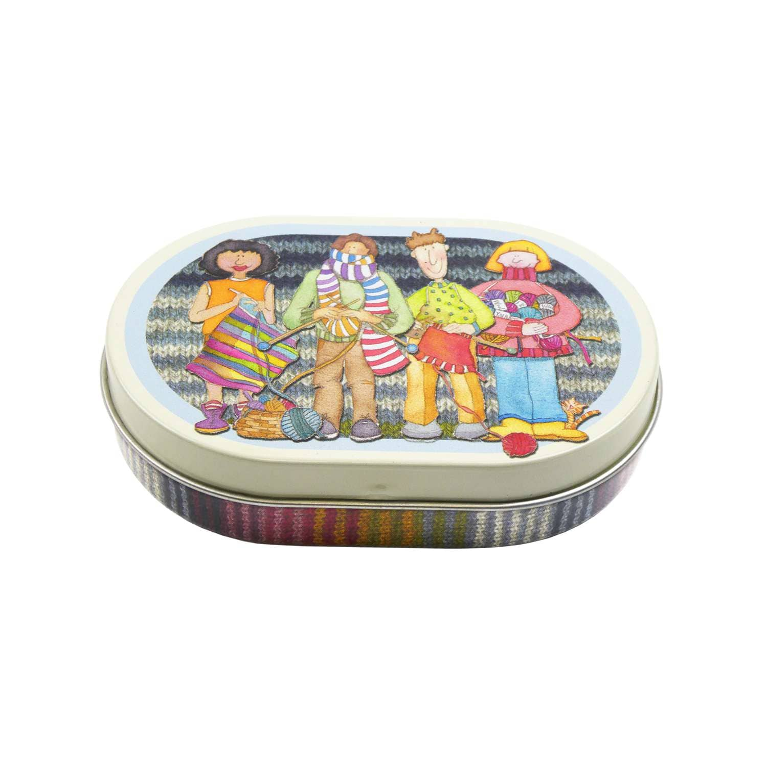 Emma Ball - The Yarn Club Mini Hinged Oval Tin | Yarn Worx
