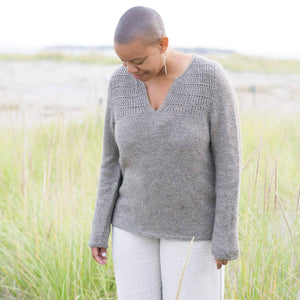 Making Magazine - No 9 - Simple woman wearing knitted jumper sweater | Yarn Worx