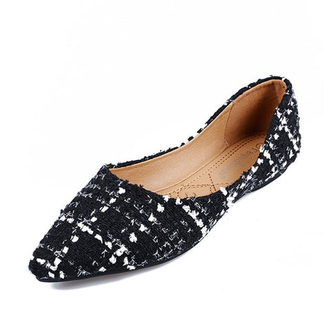 HEE GRAND Comfort Work Shoes Women 2019 Spring Casual Flat Shoes 9.5 Pointed Toe Bowknot Dress Shoes Oxford Black Shoes XWD7100