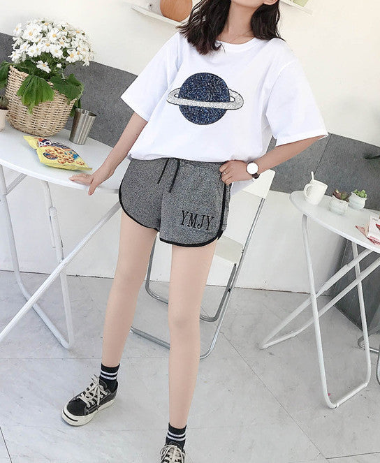 Women's Short Sleeves Tees Casual T-Shirt Basic Cotton Tops