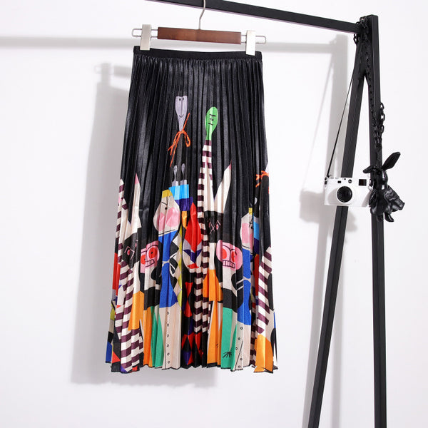 Women's Chiffon Pleated Fashion Swing Skirt