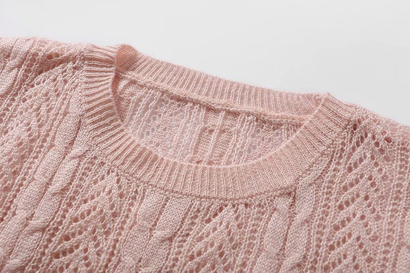 Women Knitted Long Sleeve Over Size Sweater Blouse