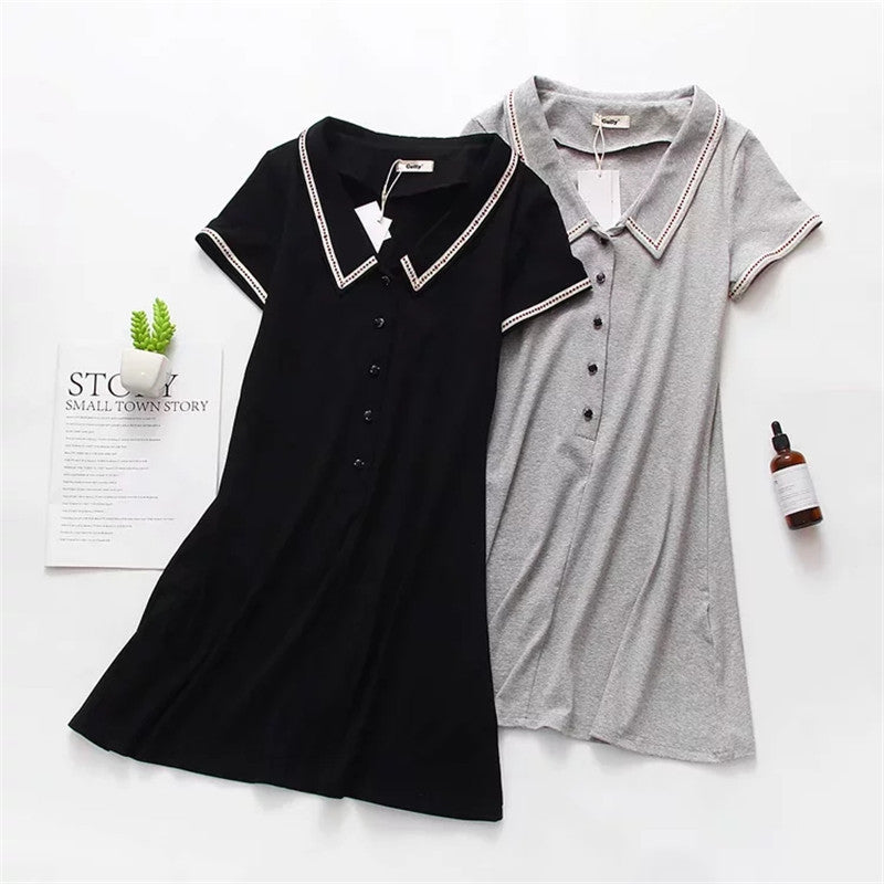 Women's / Girl's Casual Cotton Dresses Button Down