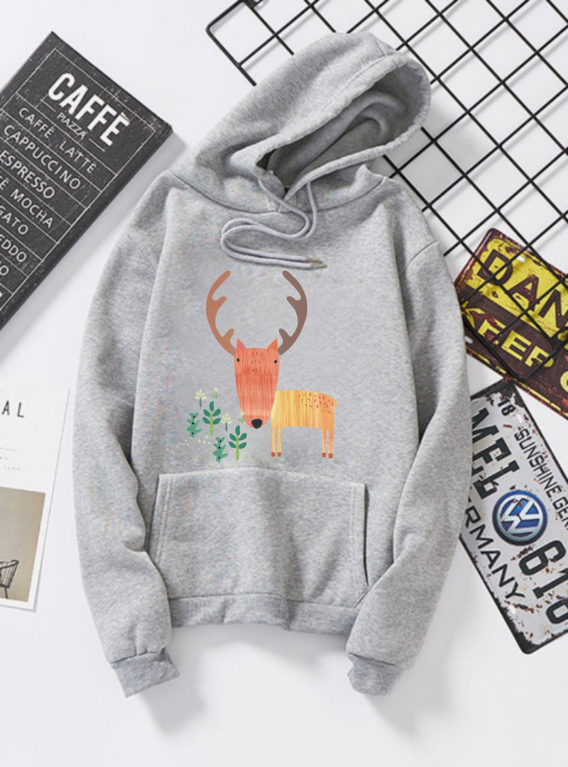 Women Hoodies Sweater Coat Teen Girls Hooded Sweatshirt Pullover Jumper Outerwear Tees