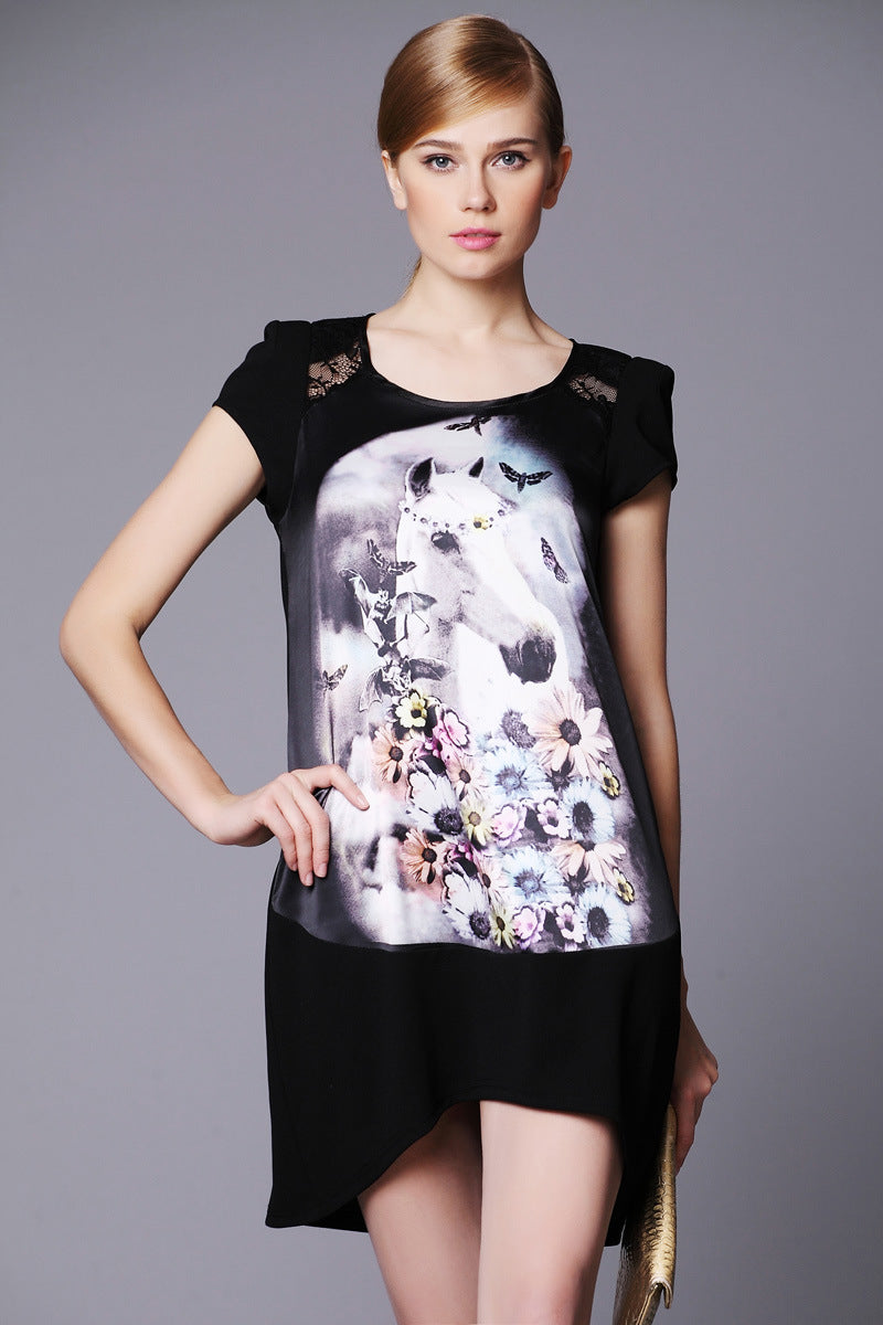 Women Summer Casual Short Sleeve Dress