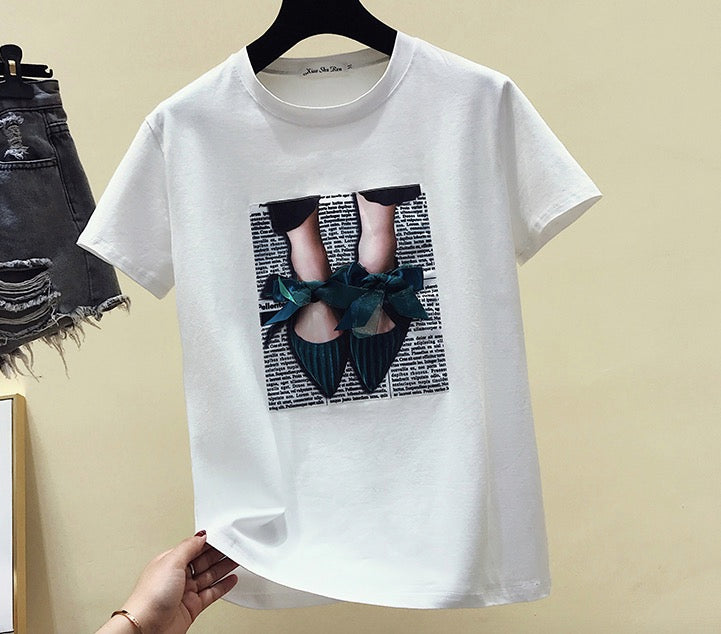 Women's Short Sleeves T-Shirt Casual Tees Basic Cotton Tops