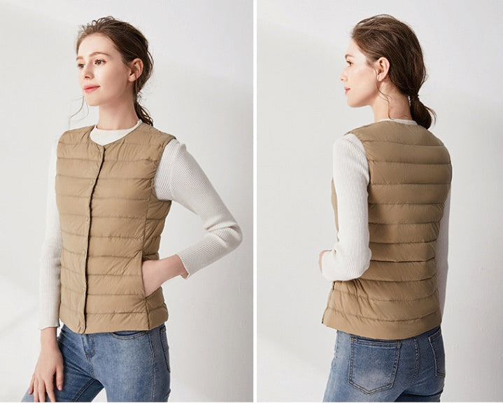 Women's Lightweight Water-Resistant Packable Down Puffer Vest