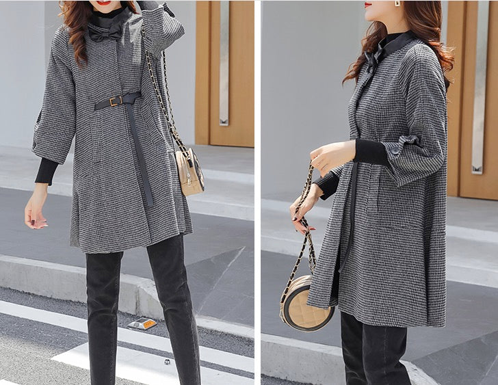 Women's Elegant Long Sleeve Fashion Warm Jacket Outwear Coat