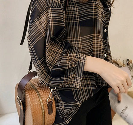 Women Casual Blouse Long Sleeve Button Down Shirt Tops