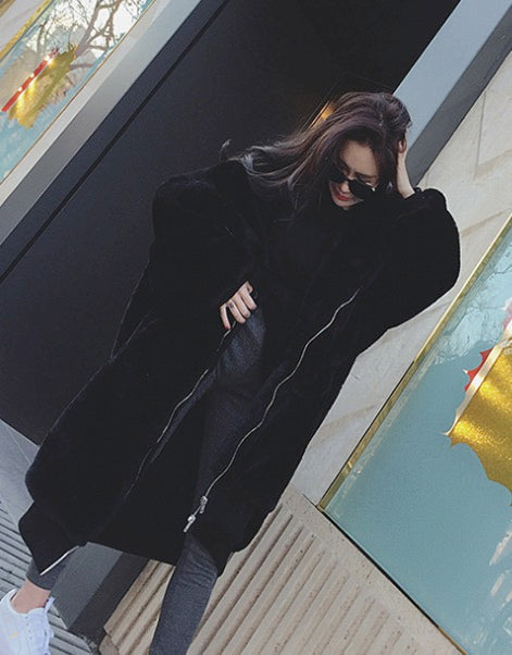 Women Thick Faux Fur Big Hooded Parka Long Peacoat Winter Coats Jackets