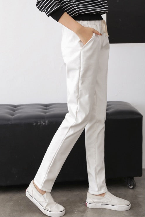 Women Cotton-Linen Wide-Leg Tie-Waist Pull-On Crop Pants