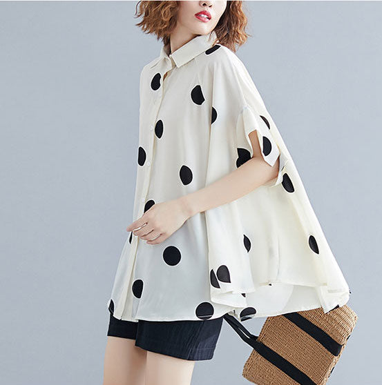 Women Batwing Casual Loose Blouse Short sleeve Tops