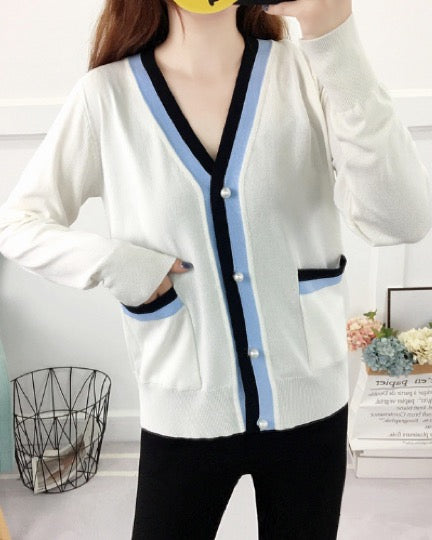 Women's Knitted Lightweight Cardigan Basic Sweater