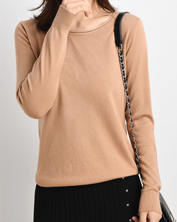 Women's Knit Lightweight Classic Pullover Long Sleeve Sweater Tops