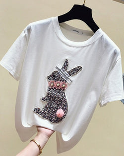 Women Cotton T-shirt Fashion Design Teenage Girl Short Sleeve Tees