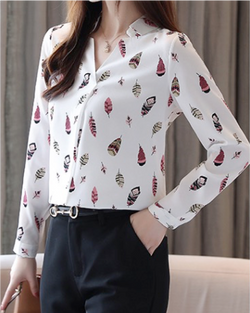 Women's V Neck Shirt Long Sleeve Button Down Blouses Tops