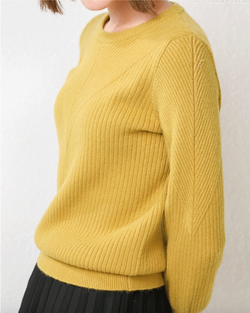 Women's Knit Lightweight Classic Pullover Long Sleeve Cashmere Sweater Tops