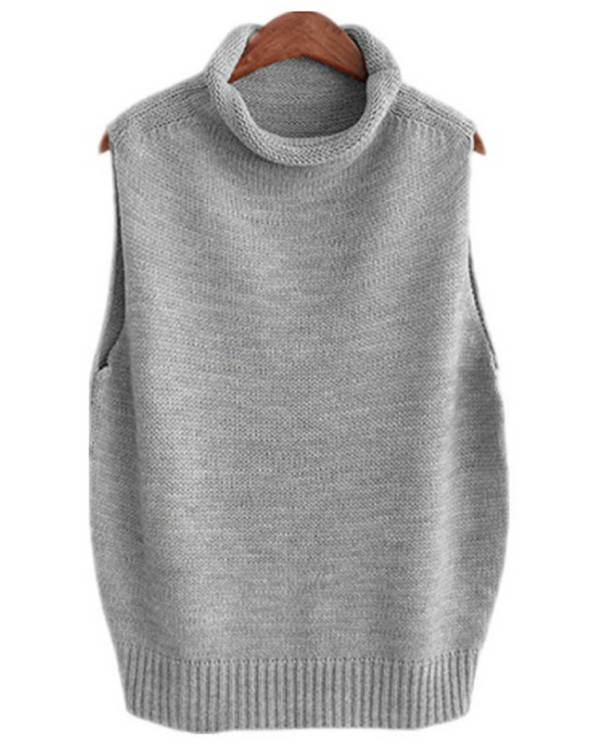 Women's Solid Classic Sleeveless Pullover Knit Sweater Vest Top