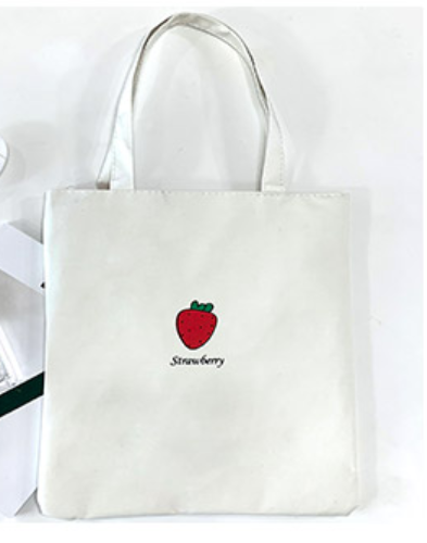 Eco Cotton Canvas Stylish Printed Fashion Shopping and Travel Tote Bag with Zipper