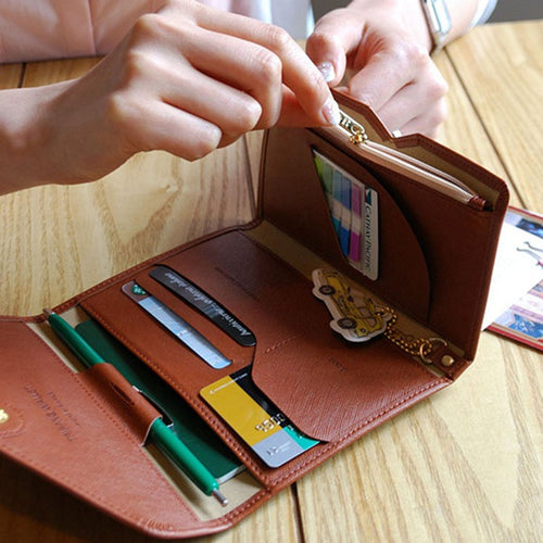 Travel Foldable Passport Holder