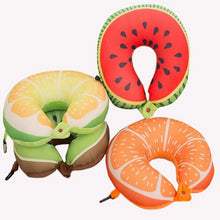 Load image into Gallery viewer, Fruit U Shaped Travel Neck Pillow