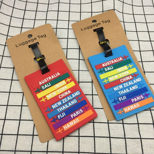 Creative Cartoon Silica Gel Luggage Tag