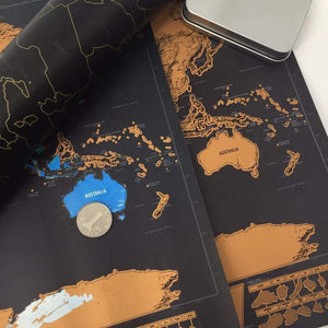 Deluxe Scratch-Off World Map - 2PACK