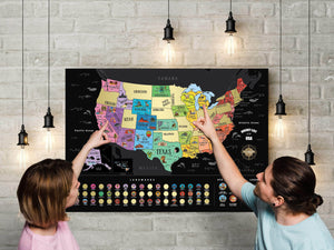 Deluxe Scratch Off USA Bucket List Map - 2PACK