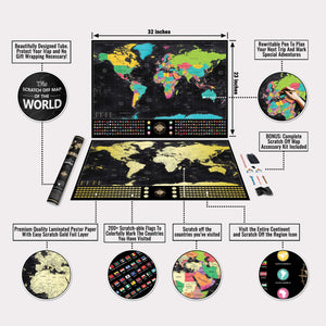 Voyager Deluxe Scratch-Off Map