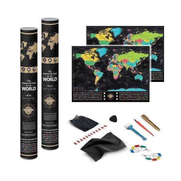 Voyager Deluxe Scratch-Off World Map - 3PACK