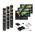 Voyager Deluxe Scratch-Off World Map - 4PACK