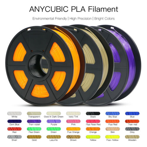 ANYCUBIC 1.75mm 3D Printer Filament PLA/ PETG/ABS Accuracy +/- 0.02mm 2.2 LBS (1KG) Spool