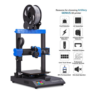 Pre-order: Genius 220 x 220 x 250 mm Artillery 3D Printer