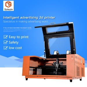 Intelligent advertising 3D printer Specialize in making advertising word Soleyin K5 600*600*70mm