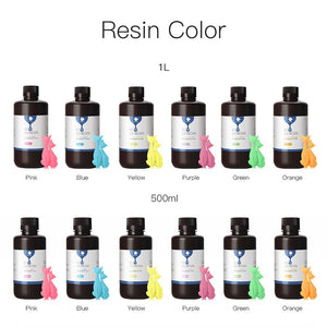 Multi-color package resin