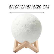 Load image into Gallery viewer, 3D Printing Moon Lamp Cool&Warm PLA 8CM 10CM 12CM 15CM 18CM 20CM - Free Delivery