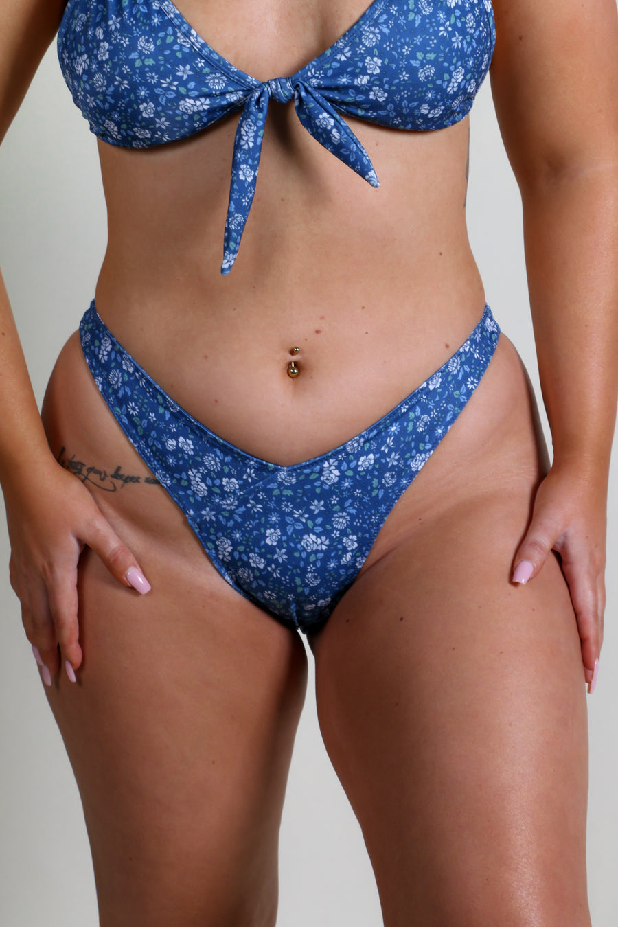 SOL BOTTOMS BLUE FLORAL