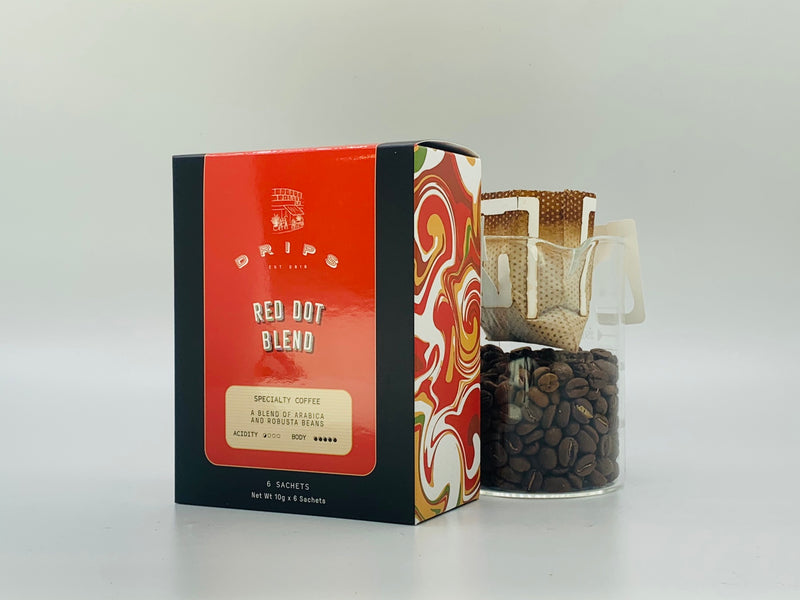 Hand Crafted Coffee Filters Sachet Box - Red Dot Blend