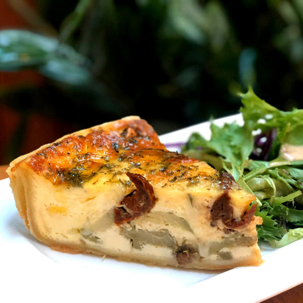 Homemade Fresh Quiche Of The Day (sliced) - Drips Bakery Café