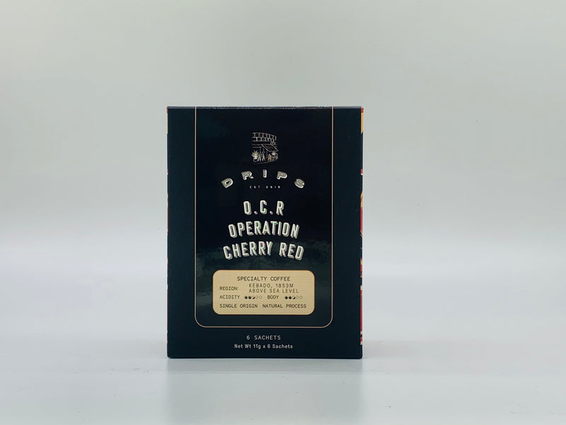 Hand Crafted Coffee Filter Sachet Box - Operation Cherry Red - Drips Bakery Café