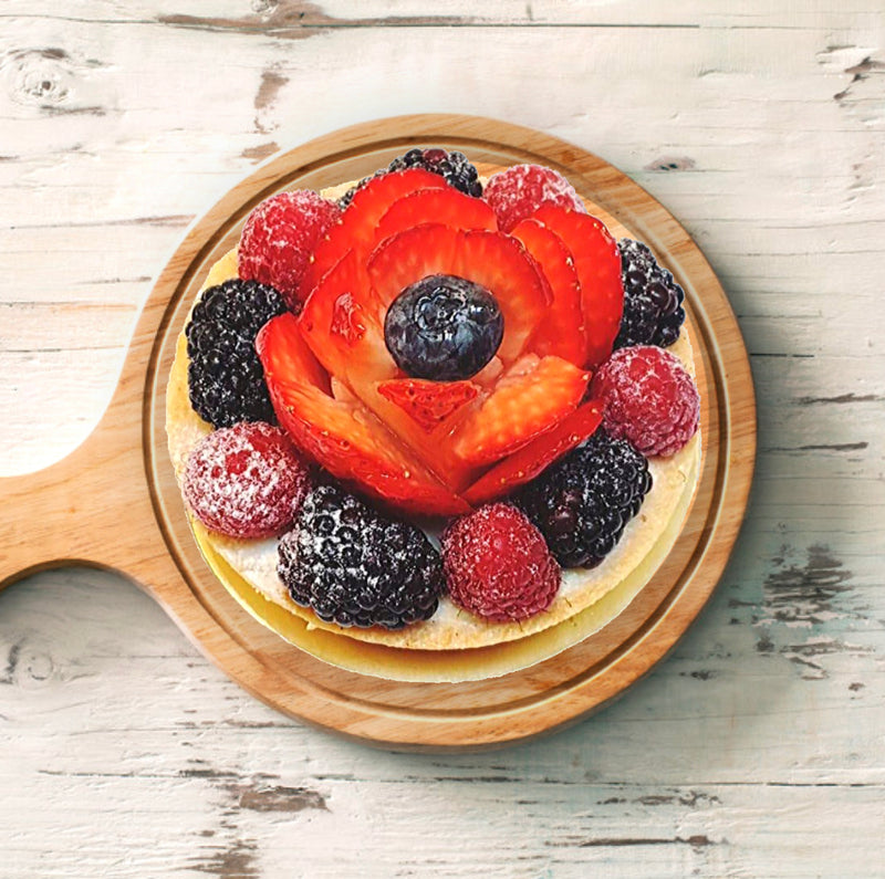 Seasonal Fresh Fruits Tart - Drips Bakery Café