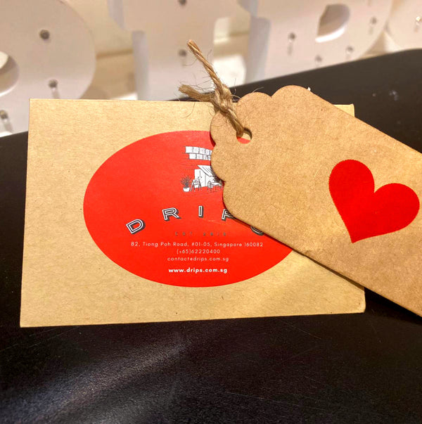 Kraft Handwritten Message Card - Drips Bakery Café