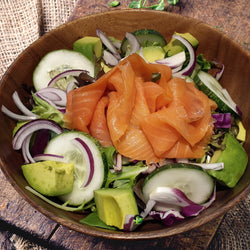 Smoked Salmon With Avocado Salad - Drips Bakery Café