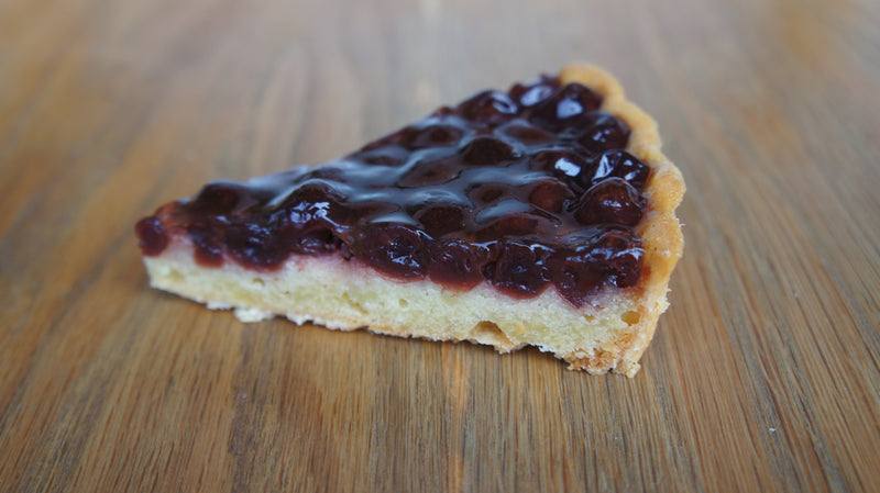 Cinnamon Cherry Brandy Tart (sliced)