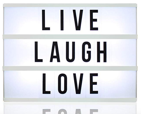 light box live laugh love