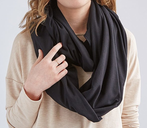 infinity scarf travel pillow