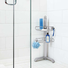 corner shower caddy - lifestyle in shower image