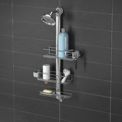 adjustable shower caddy plus - lifestyle black wall image