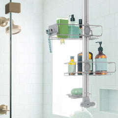 over door adjustable shower caddy - lifestyle back view